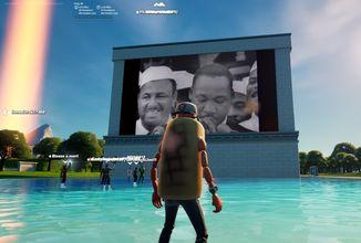 Do Fortnite dorazil interaktivní zážitek oslavující Martina Luthera Kinga