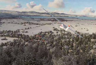 Do Microsoft Flight Simulatoru přichází sníh v reálném čase