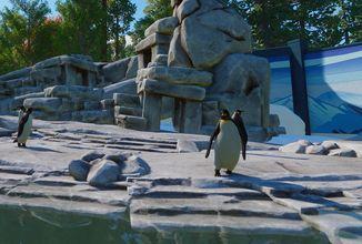Tučňáci a další obyvatelé vod v novém rozšíření pro Planet Zoo