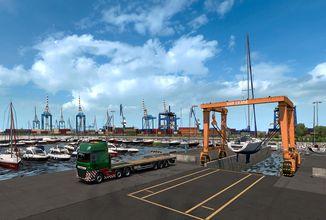 Euro Truck Simulator 2 ukazuje přístavy na Pyrenejském poloostrově