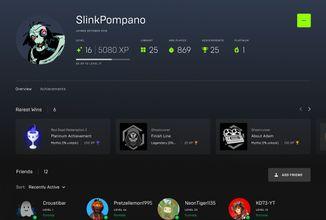 Epic Games Store dostane profily, náhledy i platinové achievementy