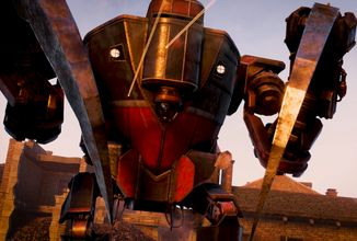 Strategie Iron Harvest představuje frakci Rusviet s obřím mechem sekajícím nepřátele na cucky