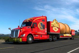 Obrovská brambora zaměstnává řidiče ve hře American Truck Simulator