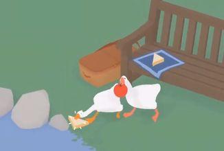 Untitled Goose Game vám umožní šikanovat vesničany s kamarádem