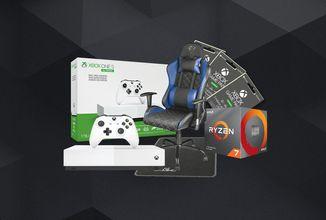 Vyhrajte Xbox One S, AMD Ryzen 7 nebo herní židli Trust GTX 707R Resto