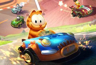 Kocour Garfield má vlastní motokárové závody
