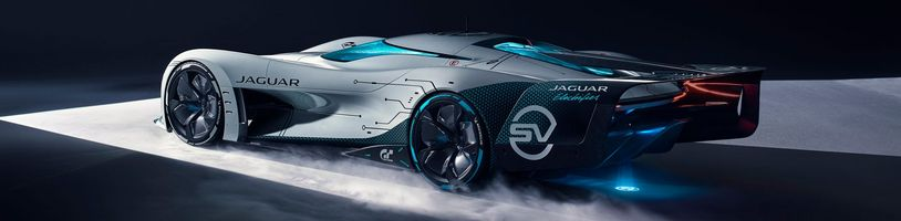 Gran Turismo 7 s elektrickým konceptem od automobilky Jaguar