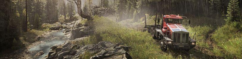 SnowRunner v zalesněné oblasti umožní nakládat dřevo