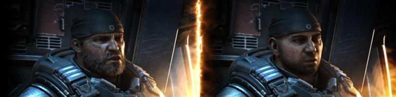 Wrestler Dave Bautista jako Marcus Fenix v aktualizaci pro Gears 5