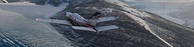 Microsoft Flight Simulator vypadá neuvěřitelně i ve sněhu