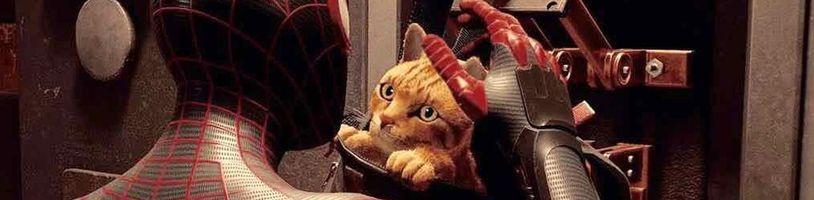 Kočka jako společník a spolubojovník ve Spider-Man: Miles Morales