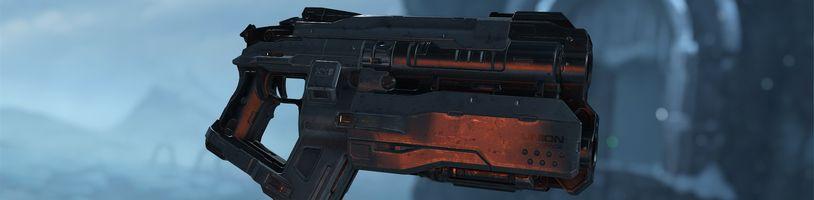 Pistoli v Doom Eternal sice normálně nenajdete, ale stejně ji můžete použít