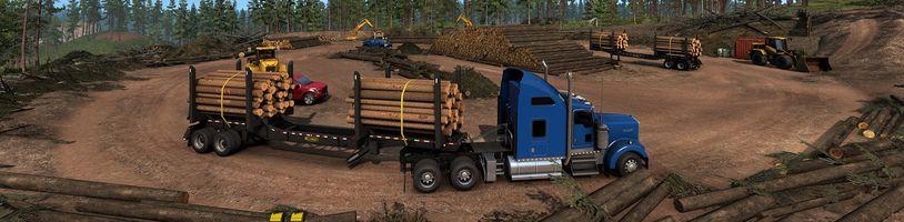 American Truck Simulator ukazuje dřevařský průmysl v Idaho