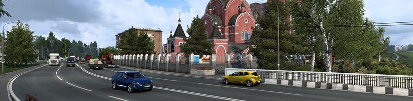 Srdce Ruska na obrázcích z Euro Truck Simulator 2