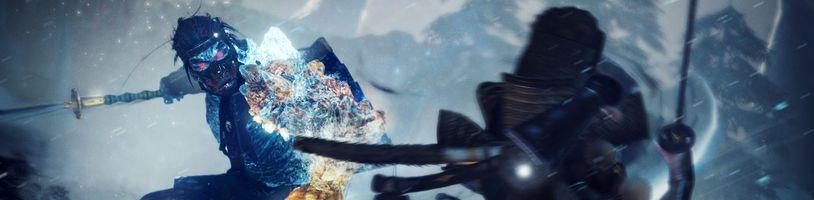 Náročný boj s bossem v ledem pokryté oblasti ze hry Nioh 2