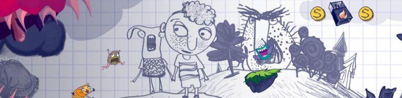 Kreslená hra jak ze školních sešitů