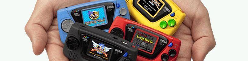 Sega předvedla přenosné retro konzole Game Gear Micro
