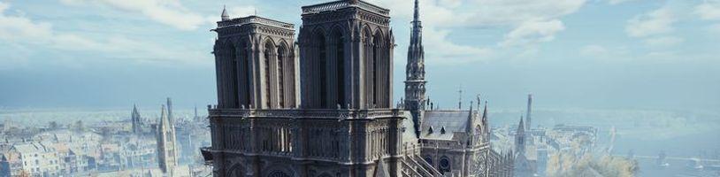 """""""Radi poskytneme akúkoľvek expertízu,"""" potvrdil Ubisoft, venoval na Notre Dame 500 000 eur a uvoľnil AC: Unity zdarma"""