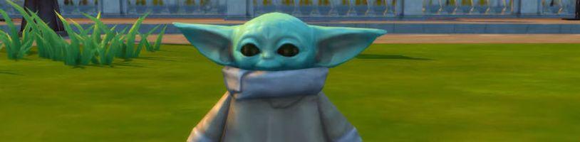 Baby Yoda v The Sims 4