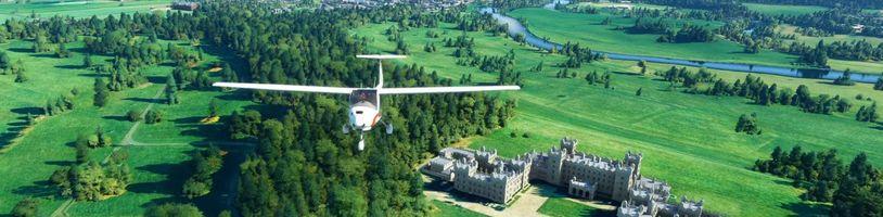 Létání nad vylepšeným Spojeným královstvím a Irskem v Microsoft Flight Simulatoru