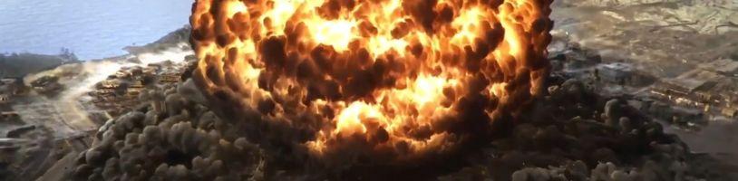 Mapa Verdánska v Call of Duty: Warzone zničena atomovým výbuchem