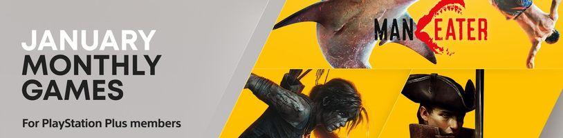 PS Plus v lednu začíná zostra, nabídne lidožravého žraloka, Laru Croft a RPG