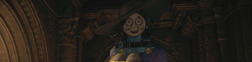 Hráči upravují Resident Evil Village. Vznikla mašinka Tomáš i baby Chris Redfield