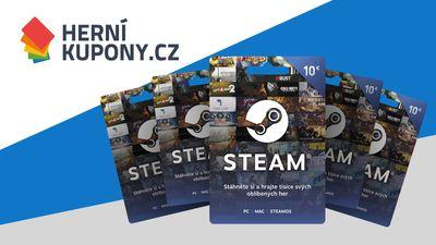 Vyhrajte Steam kupóny na nákup her