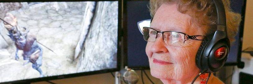 Nejznámější videoherní babička přichází do Skyrimu s pomocí modifikace