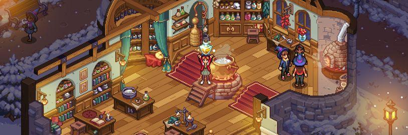 Čarodějnické RPG Witchbrook od původního vydavatele Stardew Valley odkrývá svůj jedinečný vizuál