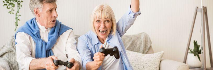 Nejrychleji rostoucí věkovou skupinou u videoher jsou hráči nad 55 let