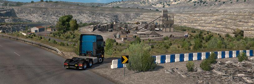 Poušť Pyrenejského poloostrova v Euro Truck Simulatoru 2